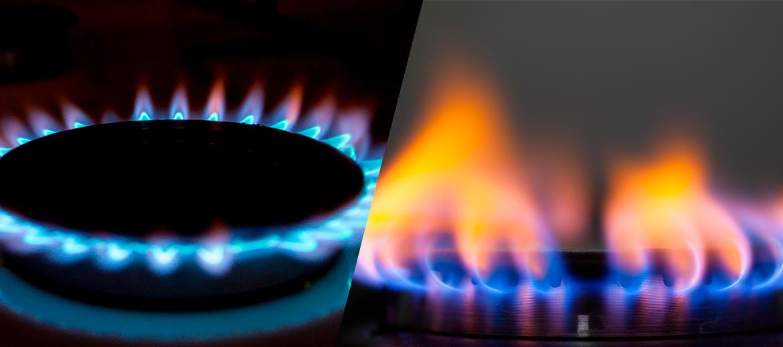 Diferencias entre los colores de las llamas
